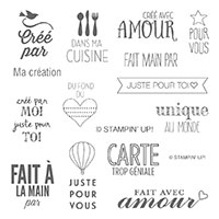 Ma Création Clear-Mount Stamp Set (French)