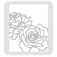 Manhattan Flower Textured Impressions Embossing Folder Die