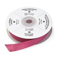 Rose Red 1/2 Inch Seam Binding Ribbon