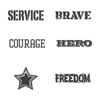 Words Of Courage Clear-Mount Stamp Set