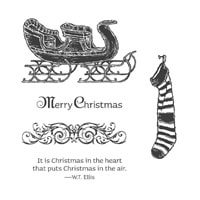 Open Sleigh Clear-Mount Stamp Set