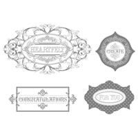 Layered Labels Clear-Mount Stamp Set