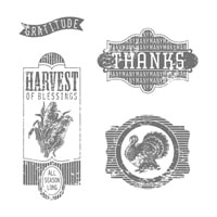Harvest Of Thanks Clear-Mount Stamp Set