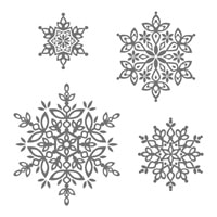 Festive Flurry Clear-Mount Stamp Set