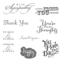 Best Of Greetings Clear-Mount Stamp Set