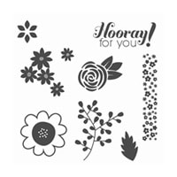 Garden Party Wood-Mount Stamp Set