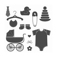 Something For Baby Clear-Mount Stamp Set