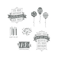 Balloon Bash Stamp Brush Set - Digital Download