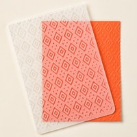Boho Chic Textured Impressions Embossing Folder