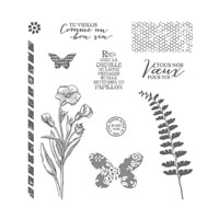 Simplement Papillon Photopolymer Stamp Set (French)