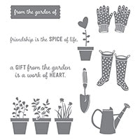 Gift From The Garden Wood-Mount Stamp Set