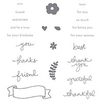 Endless Thanks Photopolymer Stamp Set