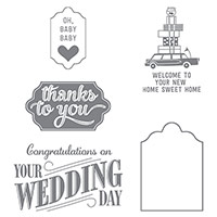 Happy Notes Clear-Mount Stamp Set