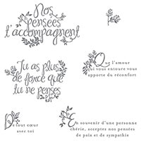 Des Adieux Du Fond Du Cœur Photopolymer Stamp Set (French)