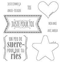 Juste Comme Ça Clear-Mount Stamp Set (French)