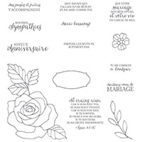 Essence De Rose Photopolymer Stamp Set (French)