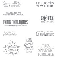 Encore Des Souhaits Clear-Mount Stamp Set (French)