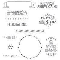 De Toute Beauté Photopolymer Stamp Set (French)