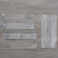 "3"" X 6"" (7.6 X 15.2 Cm) Gusseted Cellophane Bags"
