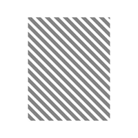 Diagonal Stripe Wood-Mount Stamp
