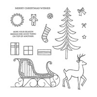 Santa's Sleigh Photopolymer Stamp Set