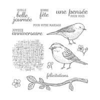 Envolée De Vœux Photopolymer Stamp Set (French)