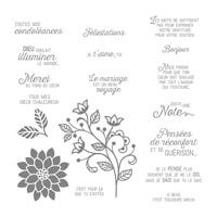 Éclosion De Pensées Clear-Mount Stamp Set (French)