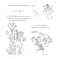 Poussière De Fée Clear-Mount Stamp Set (French)