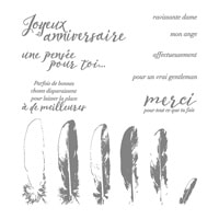 Pensées À La Plume Photopolymer Stamp Set (French)