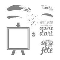Palette D'Artiste Clear-Mount Stamp Set (French)