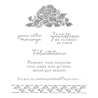 Pensées Florales Clear-Mount Stamp Set (French)
