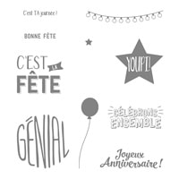 Pluie De Confettis Clear-Mount Stamp Set (French)