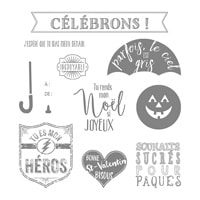 Mon Héros Clear-Mount Stamp Set (French)