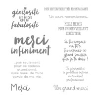 Empreint De Gratitude Clear-Mount Stamp Set (French)