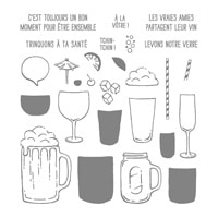 Levons Notre Verre Photopolymer Stamp Set (French)