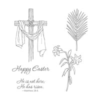 Easter Message Clear-Mount Stamp Set