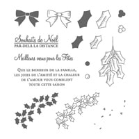 Houx Pour Noël Photopolymer Stamp Set (French)