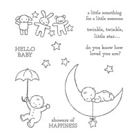 Moon Baby Wood-Mount Stamp Set