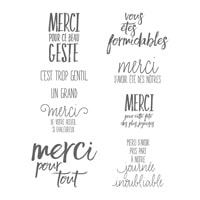 Tous Les Mercis Clear-Mount Stamp Set