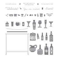 Beverage Bar Photopolymer Stamp Set