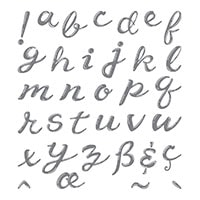 Hand Lettered Alphabet Photopolymer Stamp Set