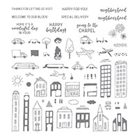 In The City Photopolymer Stamp Set