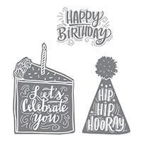 Celebrate You Wood-Mount Stamp Set