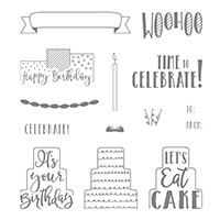 Celebration Time Wood-Mount Stamp Set