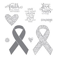 Ribbon Of Courage Wood-Mount Stamp Set