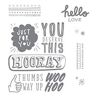 You Deserve This Clear-Mount Stamp Set