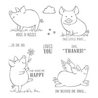 This Little Piggy Clear-Mount Stamp Set