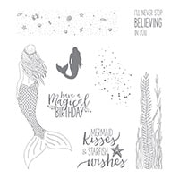 Magical Mermaid Wood-Mount Stamp Set