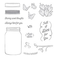 Sharing Sweet Thoughts Clear-Mount Stamp Set