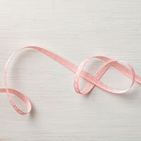 "Blushing Bride 1/4"" Double-Stitched Ribbon"